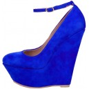 Туфли Gianmarco Lorenzi Wedge Pumps синяя замша