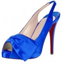 Босоножки Christian Louboutin Very Noeud Slingbacks синий сатин